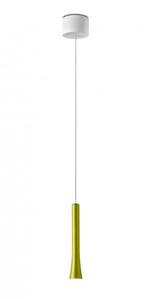 LED pendant luminaire RIO from Oligo - here the luminaire head in the variant Patagonia spring