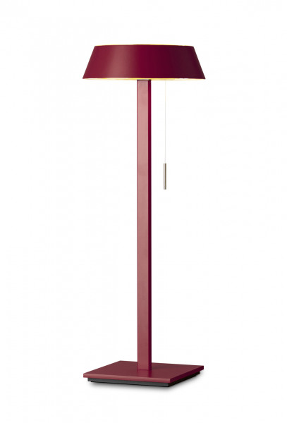 LED table lamp GLANCE in the straight version with pull switch from Oligo - here in surface red