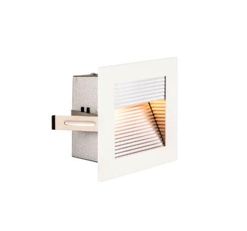 Oberfläche weiß: 230V LED Wandeinbauleuchte zum Beleuchten von Treppen, Fluren oder Durchgängen in Bodennähe