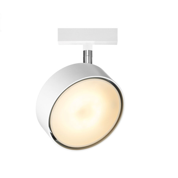 LED spot light TUTO for the 230V track system DUOLARE from Bruck - here the variant in surface white
