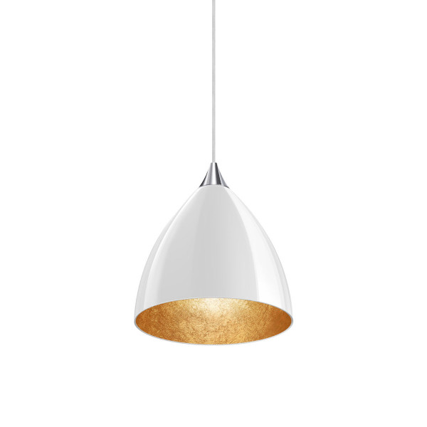 Pendant luminaire SILVA 160 for the 230V track system DUOLARE from Bruck - here the variant with surface chrome