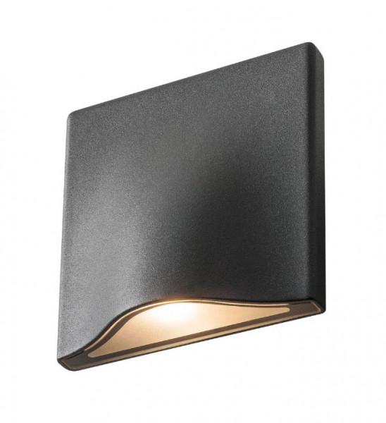 LED Wandleuchte einseitig abstrahlend in Oberfläche anthrazit