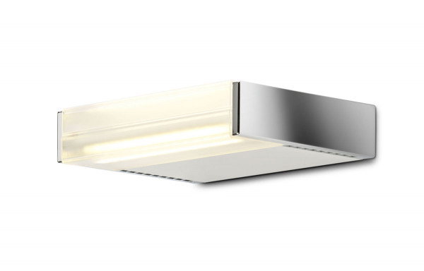 Wall lamp MAVEN S, version side panel chrome, body matt white
