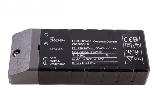 LED converter 350mA, 18W, not dimmable
