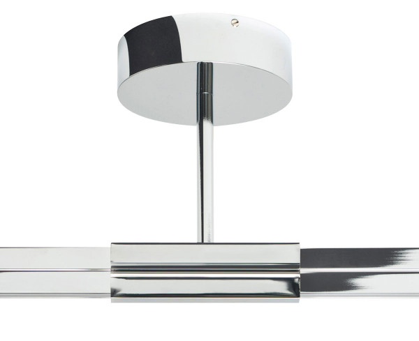 106/5000 Ceiling infeed type B for the CHECK IN rail system from Oligo - here the variant in chrome with 100mm