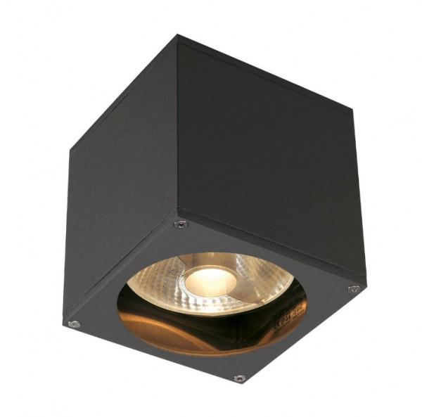 LED Fassadenstrahler in Oberfläche anthrazit, einseitig abstrahlend für austauschbare GU10 / QPAR111 LED- oder Halogen-Leuchtmittel