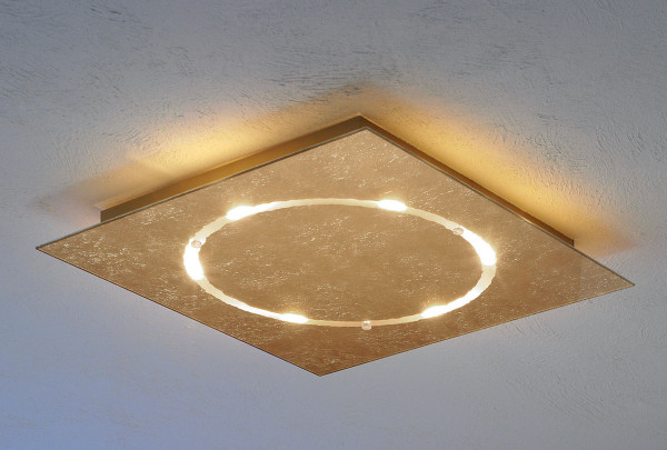 LED ceiling light SKYLINE by Escale in the surface gold leaf