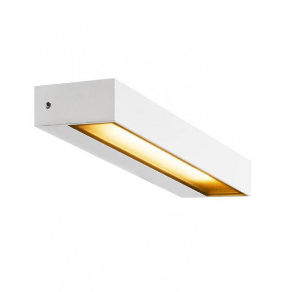 LED Fassadenstrahler in Oberfläche weiß mit einseitiger Abstrahlung und einer 7.7W LED mit 450lm