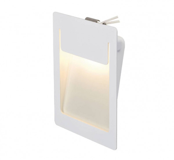 LED recessed wall light for illuminating corridors, passageways or stairs