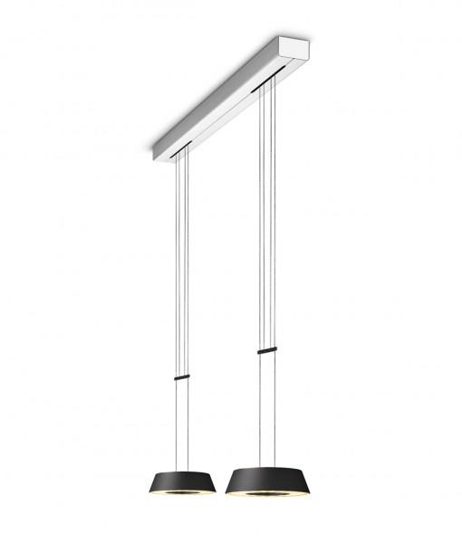 LED Pendelleuchte GLANCE von Oligo - hier die Variante in Oberfläche Schwarz matt
