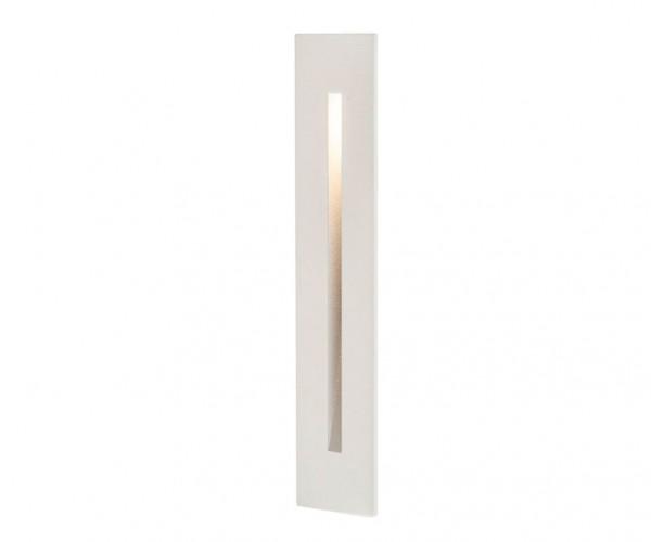 Schmale LED-Wandeinbauleuchte zum beleuchten von Treppenstufen, Treppenhäusern, Fluren, Gehwegen und vielem mehr. Schmale Bauform mit weißer Oberfläche