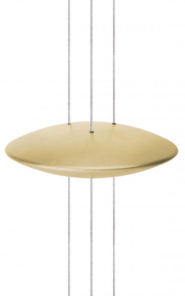 Reflection disk for the light object BEL-AIR by Oligo in surface gold