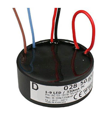 LED-Konverter 350mA, 11W, dimmbar mit optionalem Potentiometer