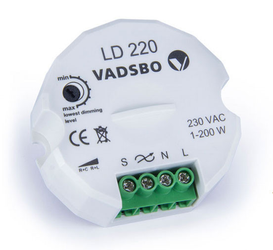 LED pushbutton dimmer