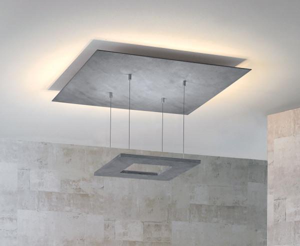 LED Deckenleuchte ZEN von Escale - hier die Variante in Oberfläche Betonoptik