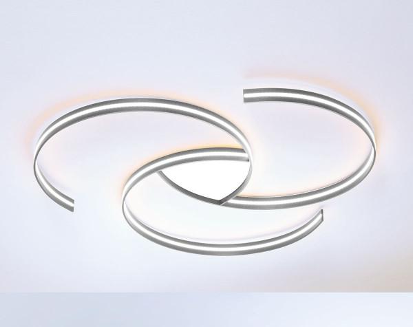 LED Deckenleuchte CIRCLES von Escale - hier die Variante mit Oberfläche Aluminium eloxiert, geschliffen