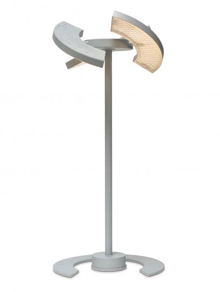 LED floor lamp TRINITY by Oligo - here the variant in surface matt chrome