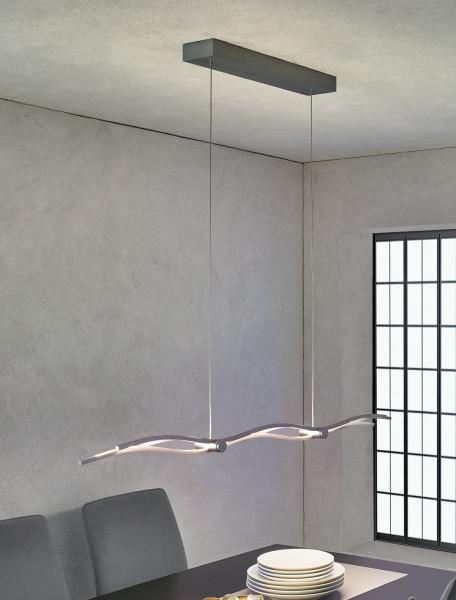 LED Pendelleuchte SILK von Escale - hier die Variante in Oberfläche Anthrazit