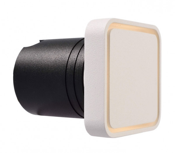 LED recessed wall light for direct connection to 230V. Optionally for installation in masonry using the supplied installation sleeve or installation in cavity walls using mounting brackets