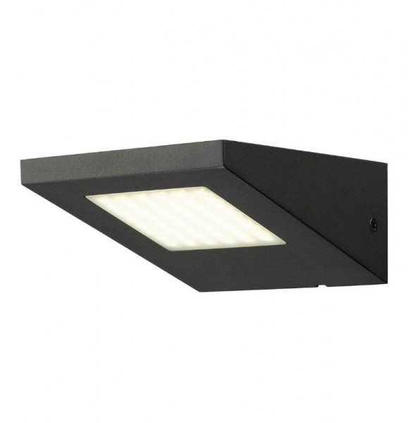 LED wall spotlight, single-sided, in anthracite surface with a 5W LED and a light color of 4000K (neutral white)