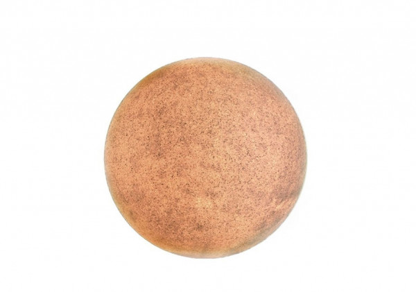 Ball lamp terracotta for indoor and outdoor use - switched on