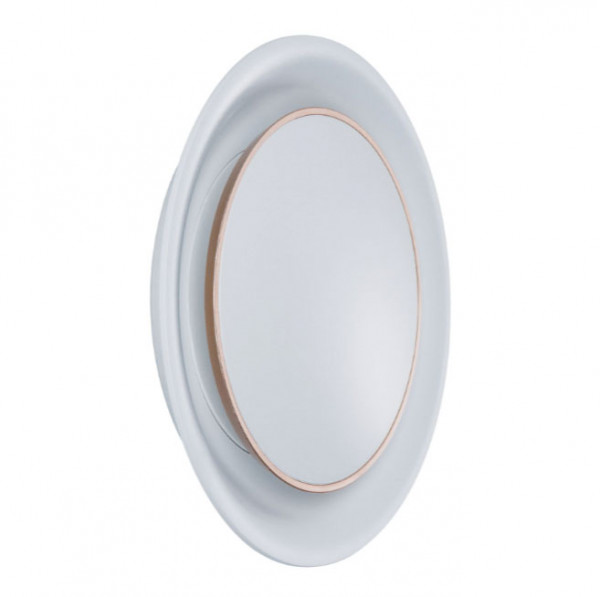White optics version: LED recessed wall luminaire with adjustable cover for illuminating corridors, stairs, steps etc., suitable for installation in cavity wall boxes