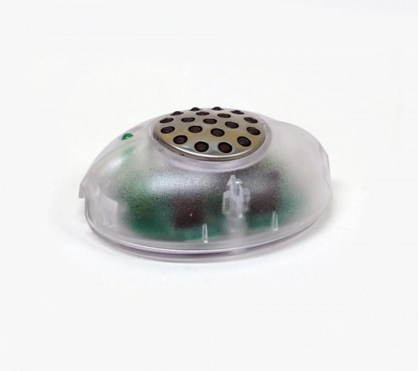 Fußdimmer zum stufenlosen Dimmen von 230V LED und Halogen-Leuchtmitteln. Mit Memoryfunktion.