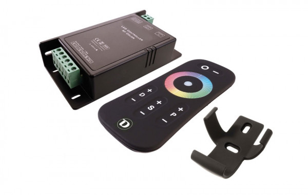 RGB color control set consisting of receiver and radio hand transmitter