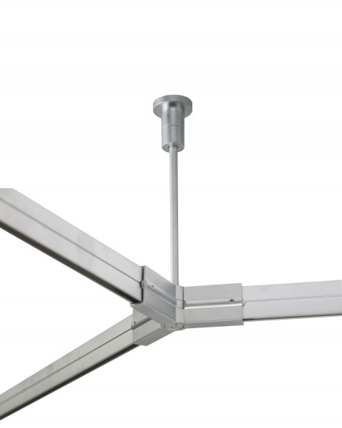 Check In rail carrier / Y-coupling swiveling for the check in rail system of Oligo
