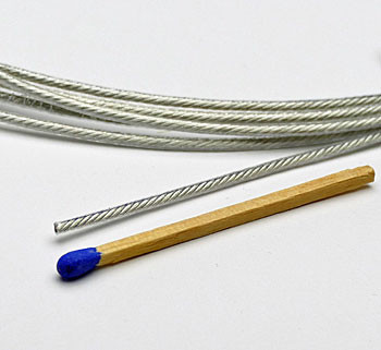 Highly flexible wire outside insulated