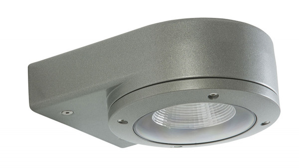 LED facade spotlight, single-sided, with 10W LED in silver surface