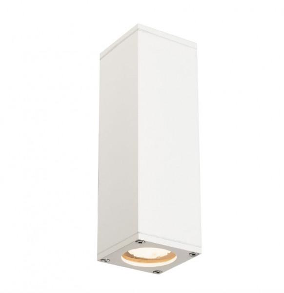 Fassadenstrahler doppelseitig abstrahlend für auswechselbare Retrofit-Leuchtmittel, lieferbar in den 4 Oberflächen weiß, silbergrau, anthrazit und matt aluminium