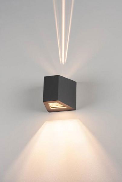 Fassadenstrahler mit doppelseitiger Abstrahlung eng / breit wahlweise für auswechselbare Halogen- oder LED Leuchtmittel R7s / 78mm