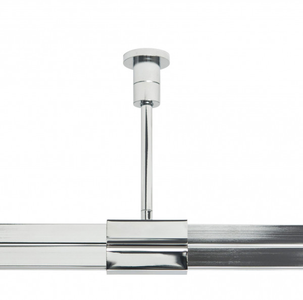 Rail carrier type B for the rail system CHECK IN from Oligo - here the variant 100mm in surface chrome