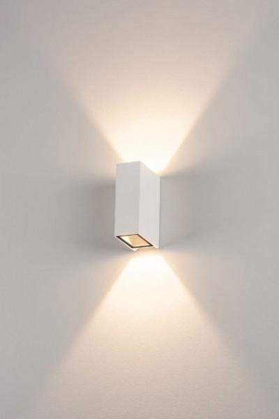 Schmaler LED Wandstrahler in Oberfläche weiß doppelseitig abstrahlend für Innen- und Aussenanwendungen