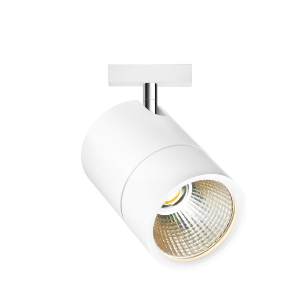 LED system spotlight ACT for the 230V track system DUOLARE from Bruck - here the variant in surface white