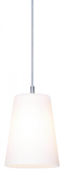 Pendant light DONATA for the CHECK IN rail system by Oligo - here the variant with glass white