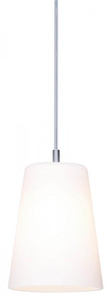 Pendelleuchte DONATA für das CHECK IN Schienensystem von Oligo - hier die Variante mit Glas weiß