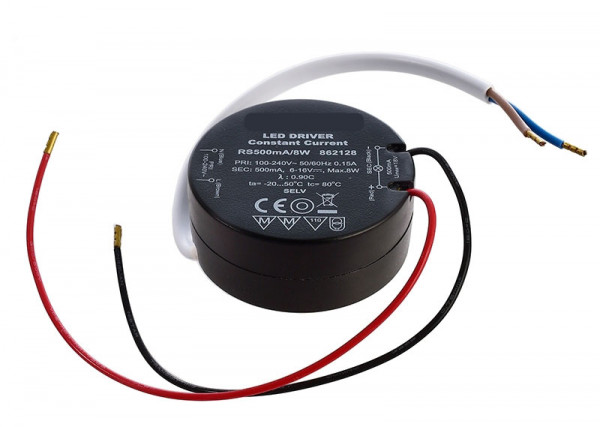 LED converter, 8W, round, not dimmable