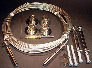 Spannset PART B für das Seilsystem YaYaHo von Ingo Maurer - Lieferumfang