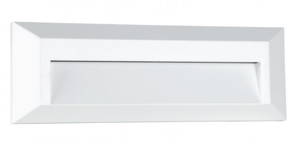 LED wall-mounted luminaire without installation depth for direct screwing onto the 230V outlet - here the version with white surface