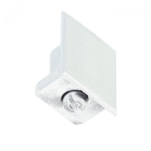 Rail end cap for the 230V track system DUOLARE from Bruck - here the variant in white