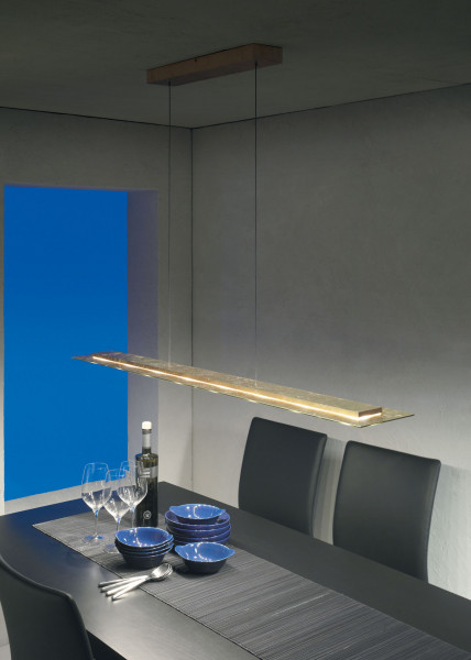 LED pendant light SKYLINE by Escale in surface gold leaf