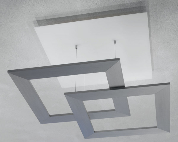 LED ceiling light ZEN due from Escale - here the variant in glass / brushed aluminum