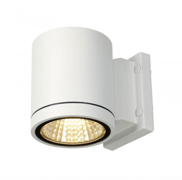 Very bright LED facade spotlight in white surface, emitting on one side with 900lm