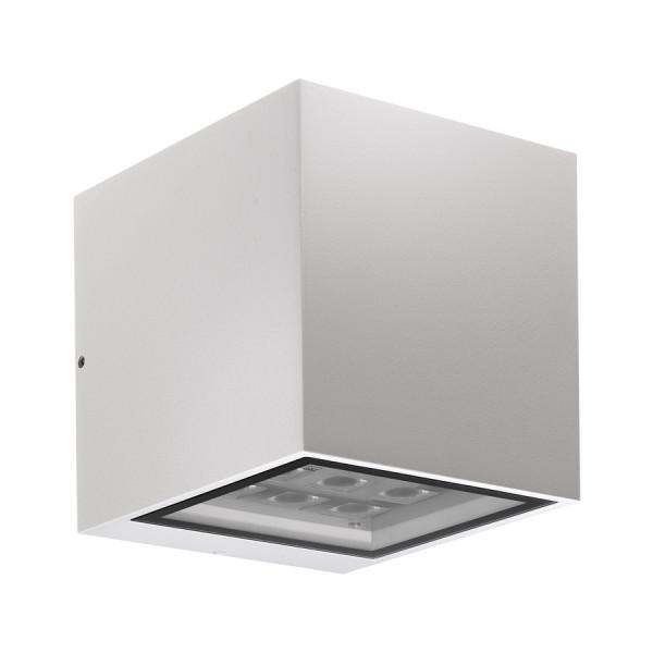 LED-Fassadenstrahler in Oberfläche weiß