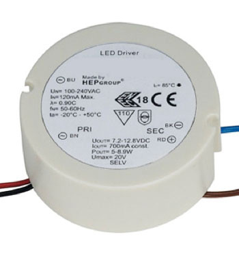 LED converter 700mA, round, not dimmable