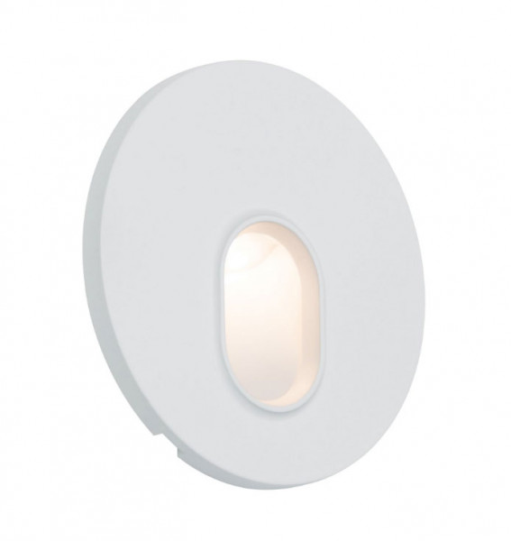 LED recessed wall light for illuminating corridors, stairs, steps, etc., suitable for installation in cavity wall boxes