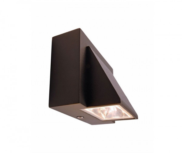 LED wall-mounted luminaire without installation depth for direct screwing onto the 230V outlet