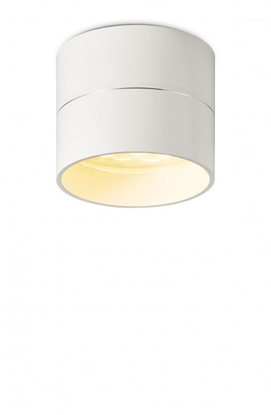 LED surface-mounted luminaire TUDOR by Oligo - here the variant S in matt white